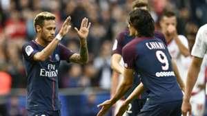Edinson Cavani Neymar PSG Bordeaux Ligue 1 30092017