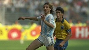 Caniggia Gomez Argentina Brasil Octavos de final Italia 90