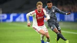 Frenkie de Jong Ajax Serge Gnabry FC Bayern Champions League 121218