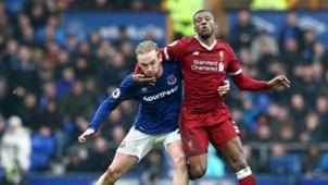 Tom Davies Georginio Wijnaldum Everton Liverpool Premier League