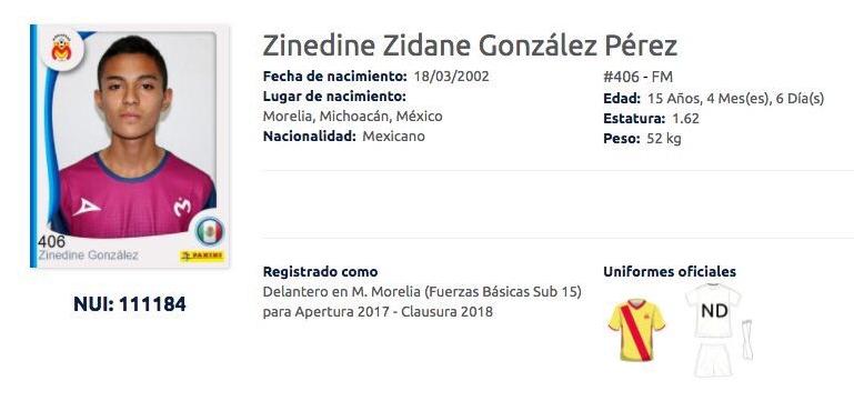 Zinedine Zidane Morelia