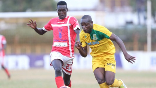 Chrispin Oduor of Mathare United v Western Stima