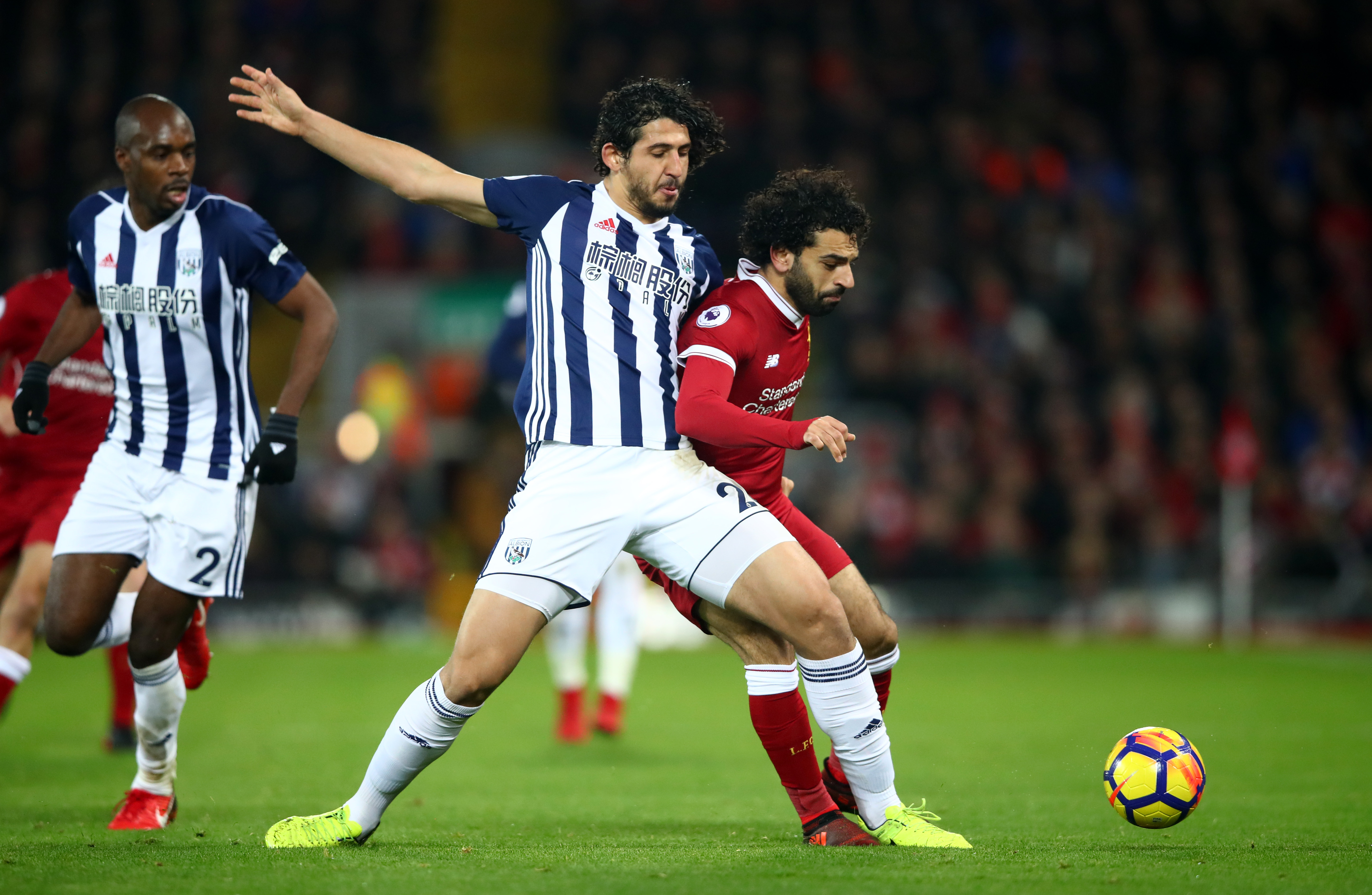 Ahmed Hegazi & Mohamed Salah - Liverpool v West Bromwich Albion