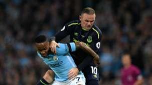 Raheem Sterling Wayne Rooney Man City Everton