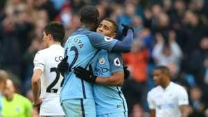 Yaya Toure Gabriel Jesus Manchester City