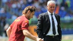 Francesco Totti Claudio Ranieri Roma