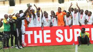Kariobangi Sharks with KPL Superr Cup trophy.