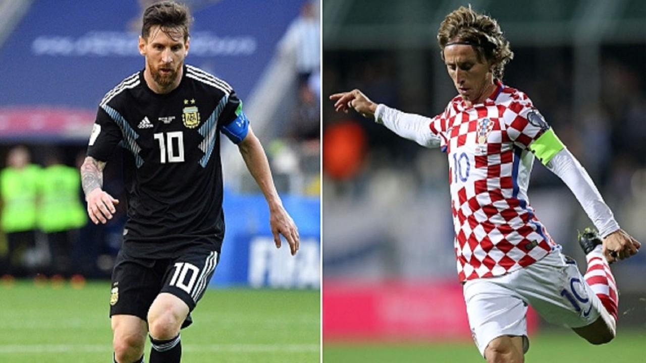 Lionel Messi Luca Modric Argentina Croatia