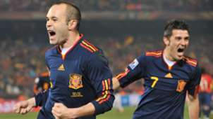 Anders Iniesta David Villa Spain