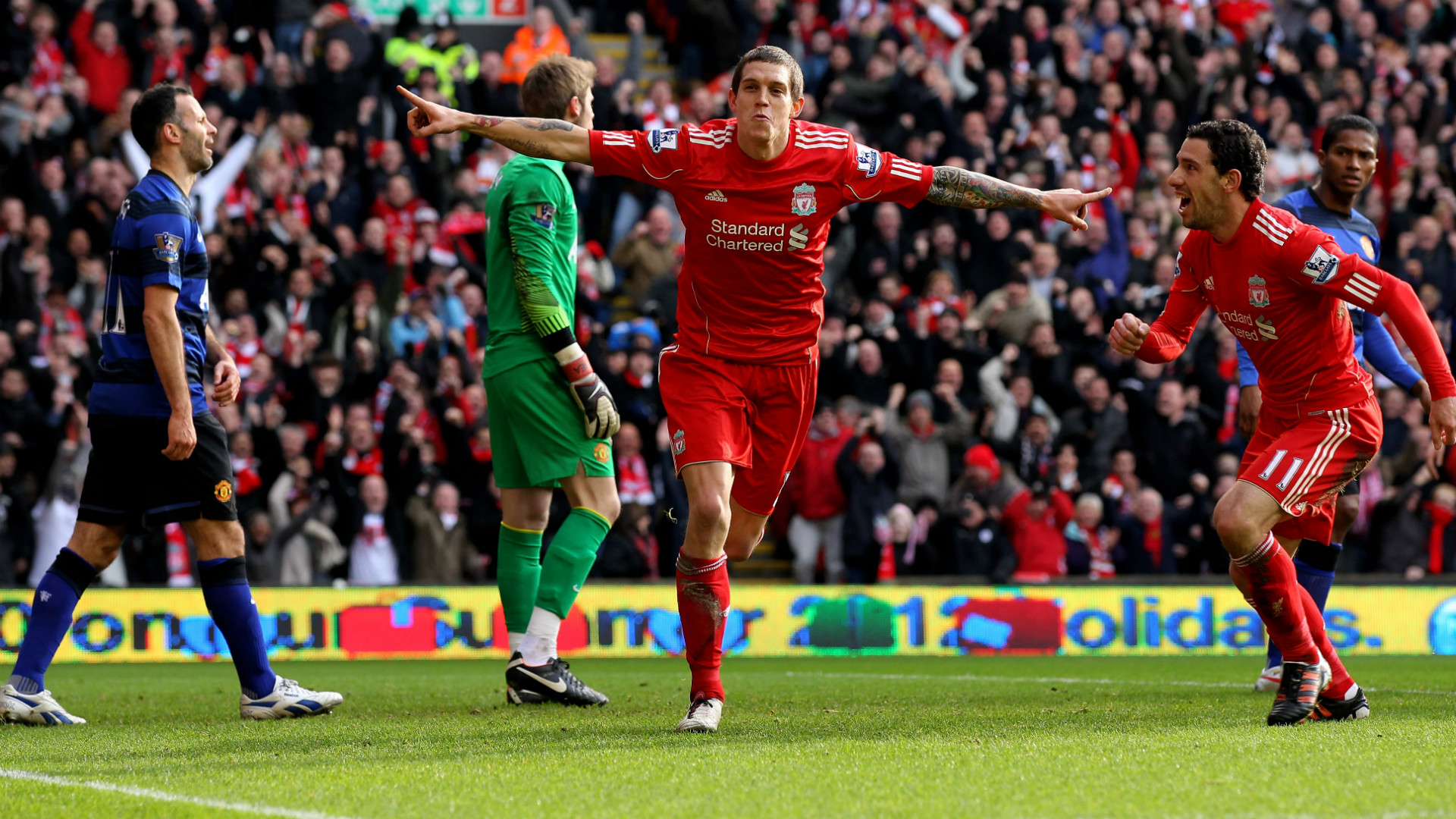 HD Daniel Agger goal v Man United