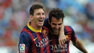 Lionel Messi, Cesc Fabregas, Barcelona
