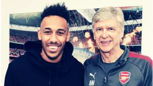 Arsene Wenger Pierre Emerick Aubameyang FC Arsenal