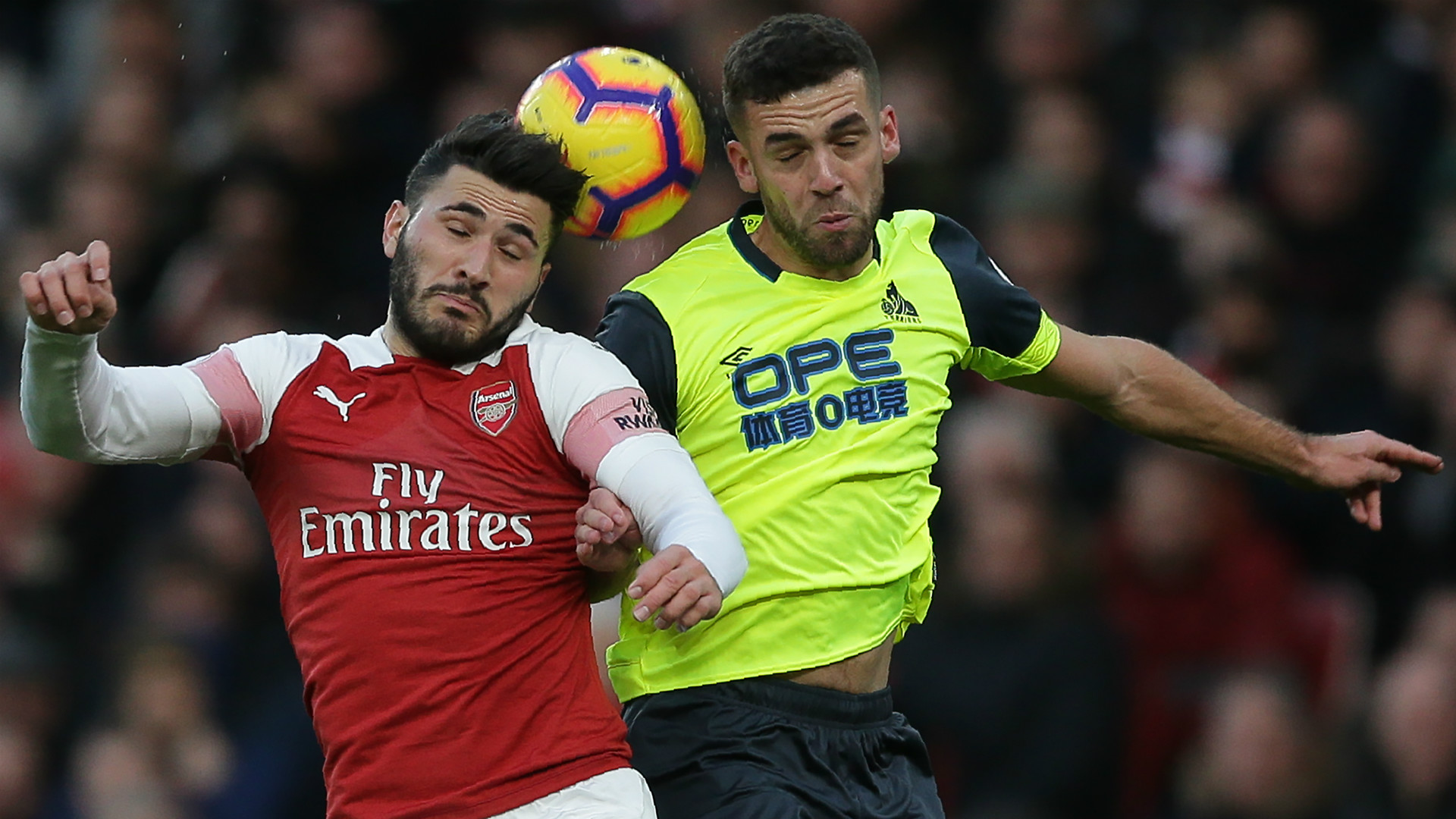 Sead Kolasinac Tommy Smith Arsenal Huddersfield 2018
