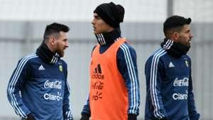 Lionel Messi Paulo Dybala Sergio Aguero ArgentinaEntrenamiento  07112017