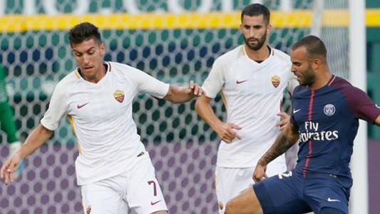 Lorenzo Pellegrini Lucas Moura Roma PSG ICC 2017