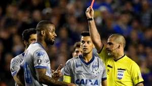 Dede Eber Aquino vermelho Boca Cruzeiro Libertadores 19092018