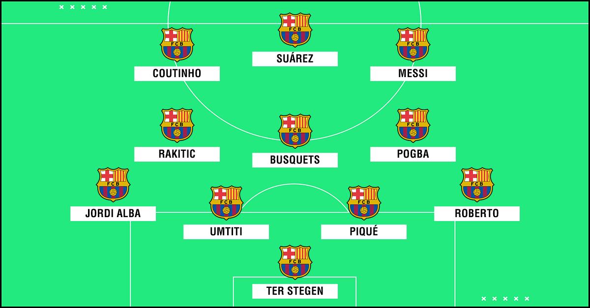 Pogba en el Barcelona