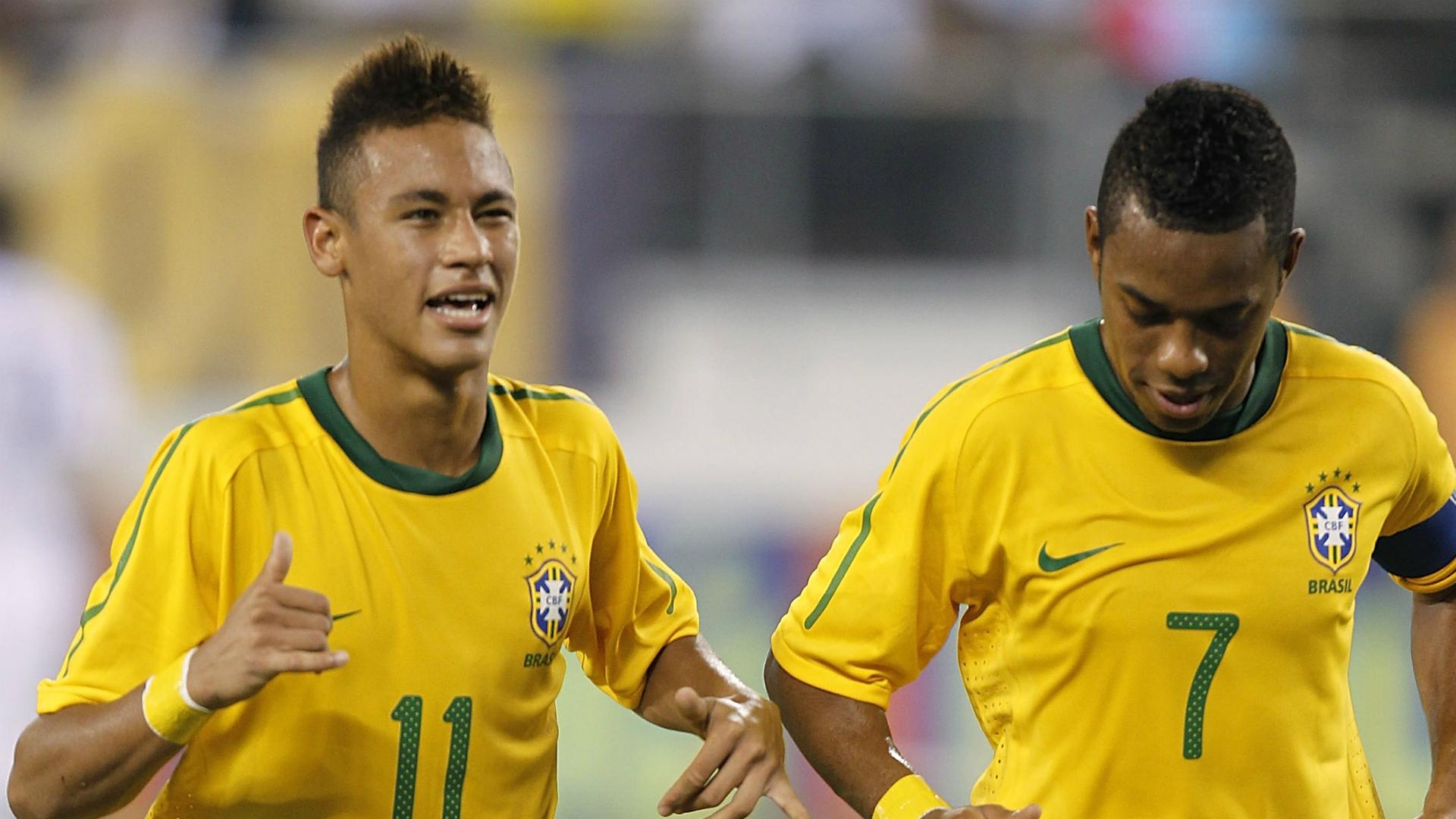 Robinho Neymar Brazil USA 10802010