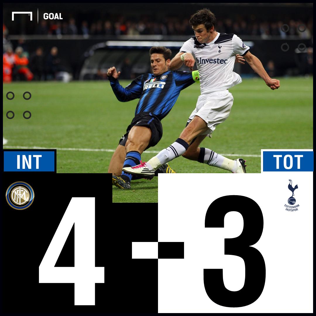 Inter Tottenham Champions League 2010 Gareth Bale