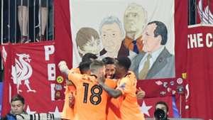 Liverpool Maribor celebrate
