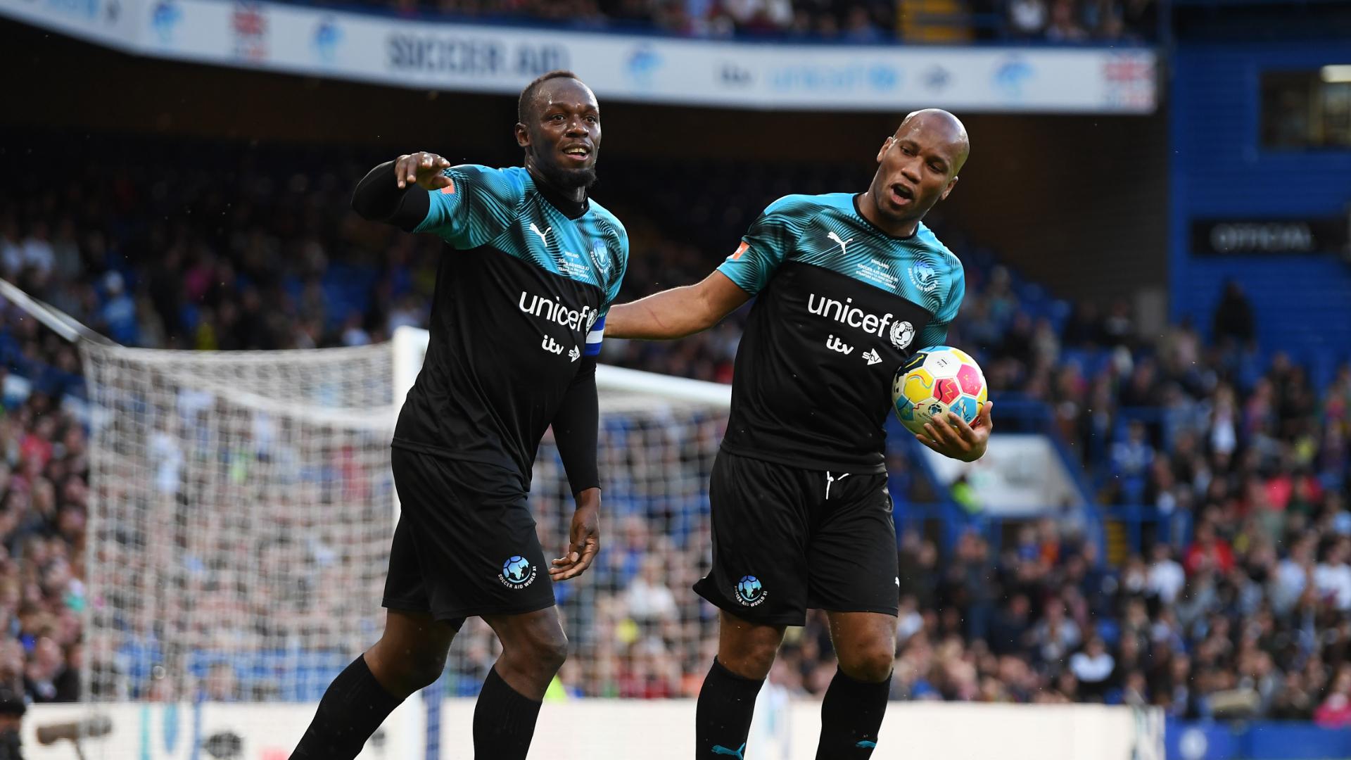 Bolt scores in Soccer Aid triumph