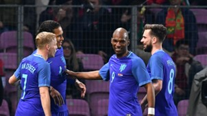 Netherlands celebrate vs Portugal