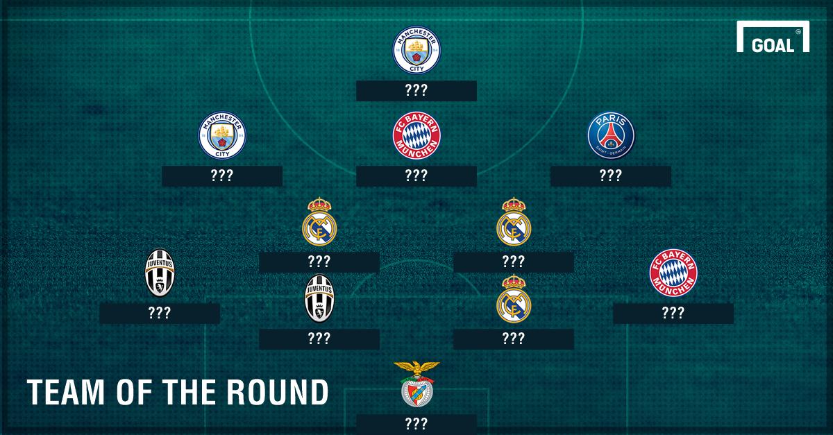 GFX Info Champions League Last-16 Team of the Round ???