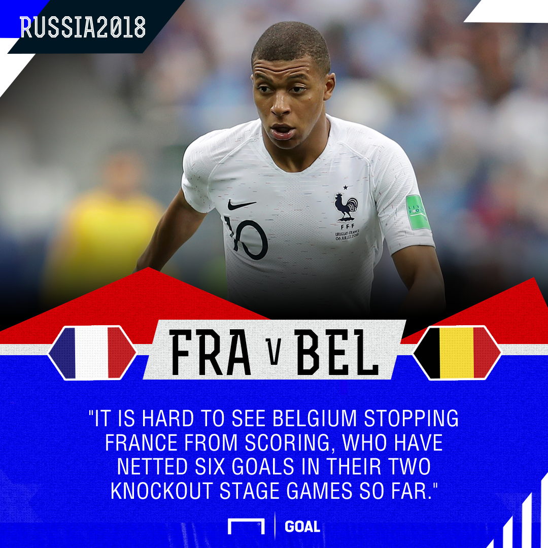 France and Belgium fight it out for World Cup final place