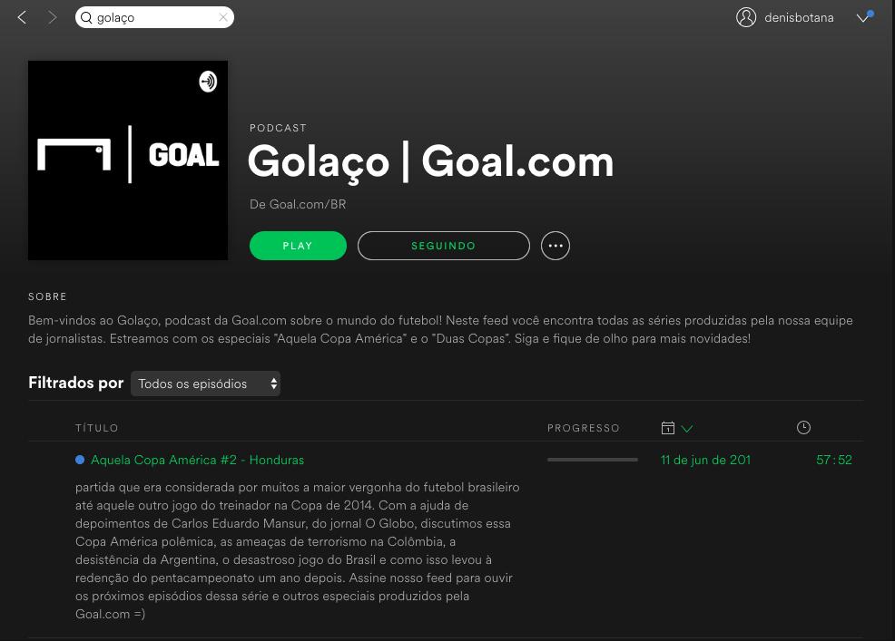 Golaço Podcast Spotify