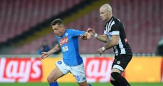 Emanuele Giaccherini Bram Nuytinck Napoli Udinese Coppa Italia