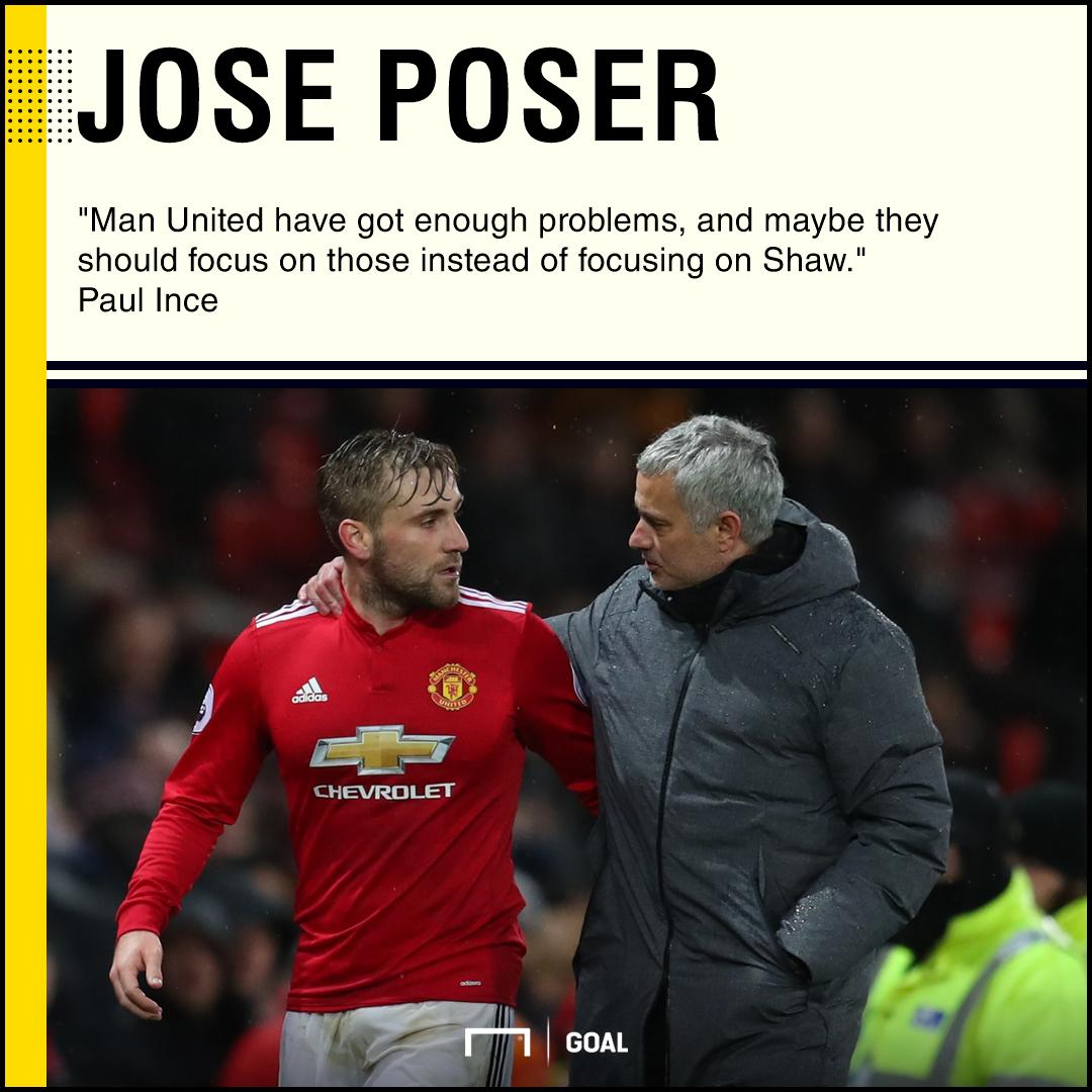 Luke Shaw Jose Mourinho problems Paul Ince