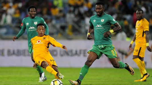 Hendrick Ekstein of Kaizer Chiefs and Lewis Macha of Baroka