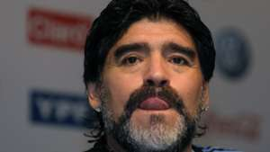 Diego Maradona Argentina press conference 2010
