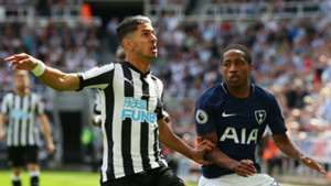 Ayoze Perez Newcastle United Cameron Carter-Vickers Tottenham