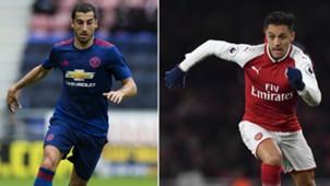 Manchester United Arsenal Mkhitaryan Alexis Sanchez 21012018