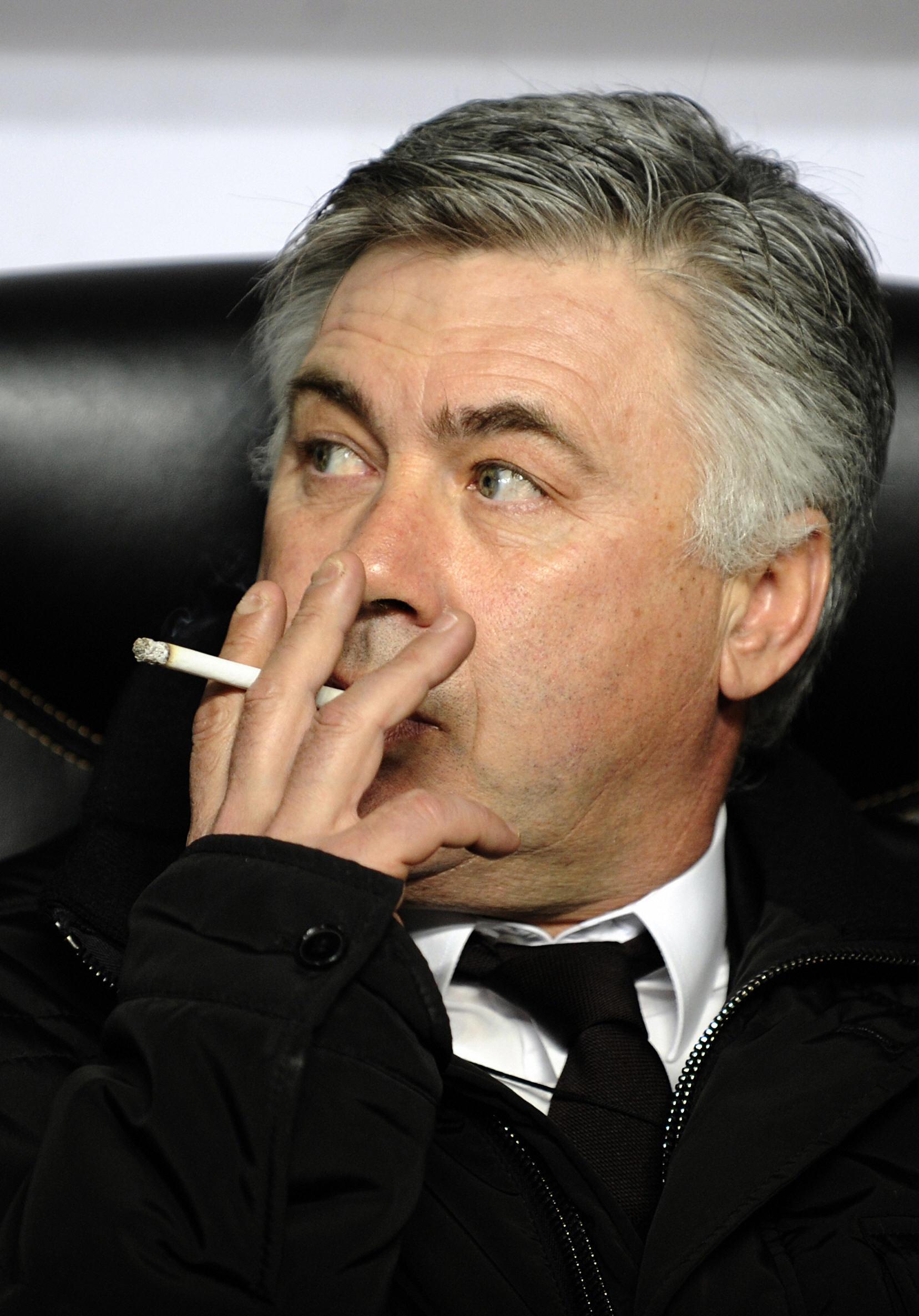 ancelotti smoking