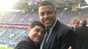 Maradona y Ronaldo, en la final entre Alemania y Chile 02072017