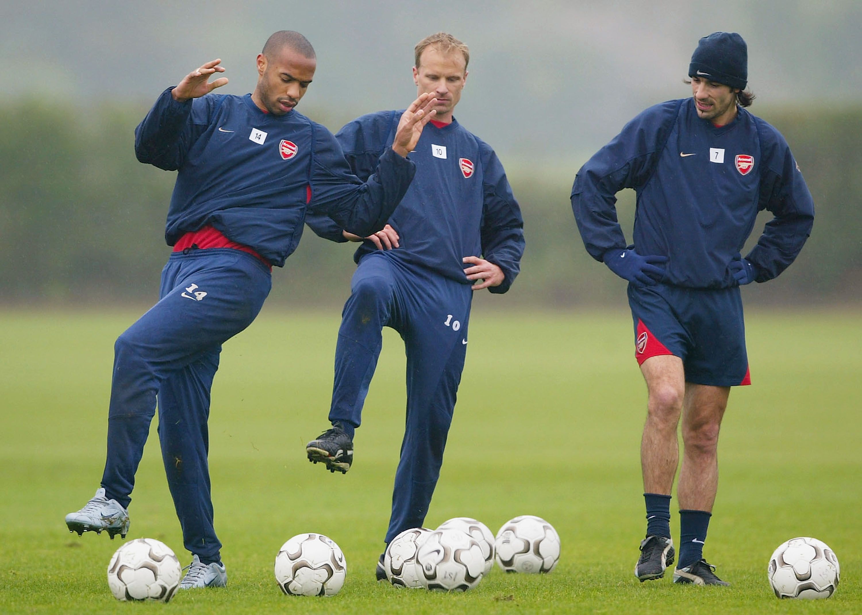 Thierry Henry Dennis Bergkamp Robert Pires Arsenal