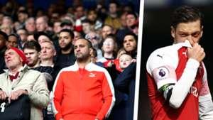 Arsenal fans Mesut Ozil