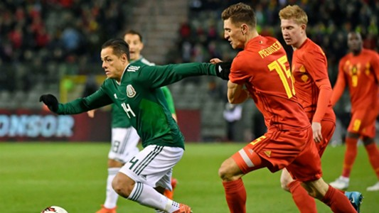 Javier Hernandez Thomas Meunier Belgiun Mexico international friendly