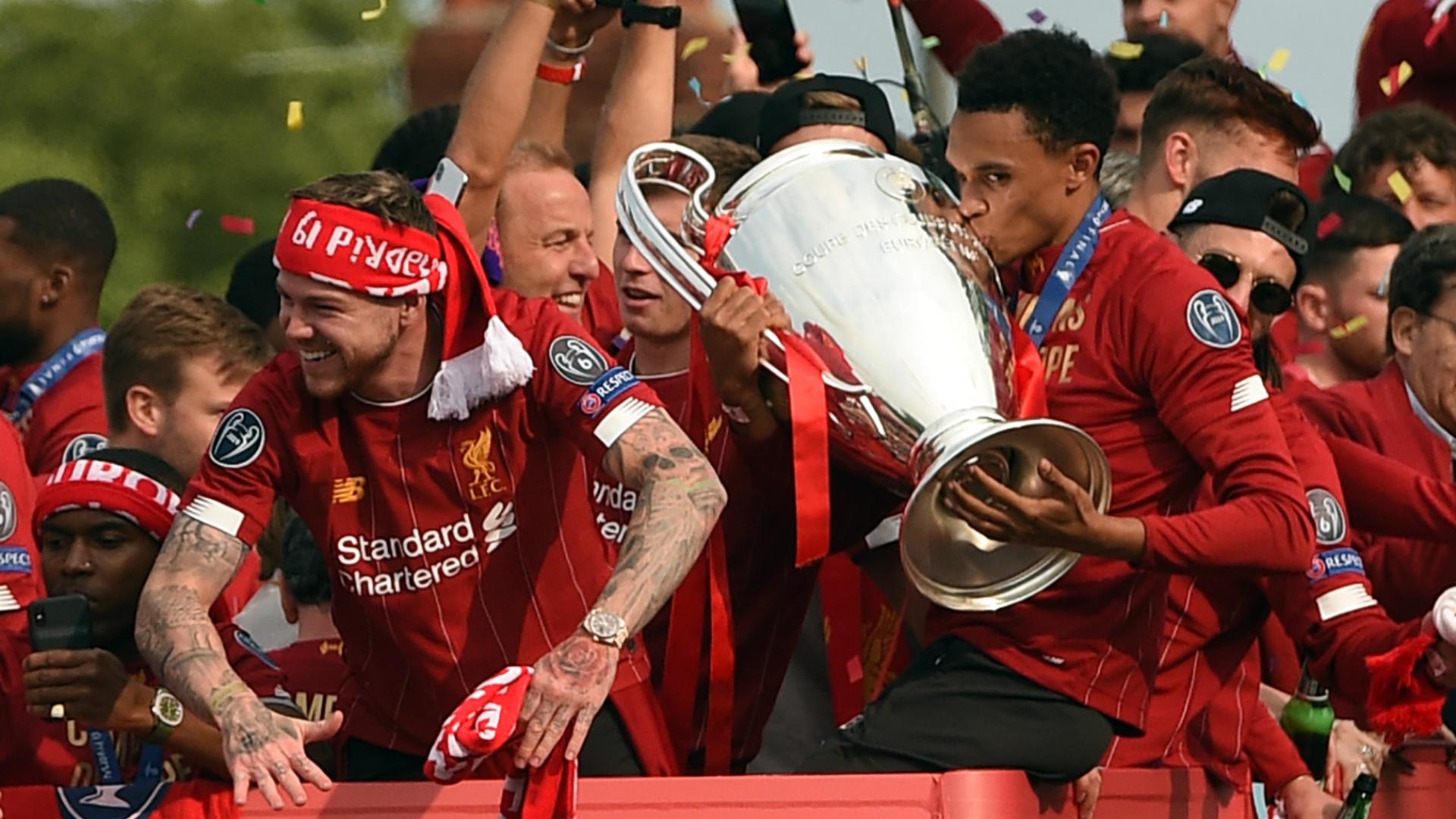 Trent Alexander-Arnold Liverpool parade