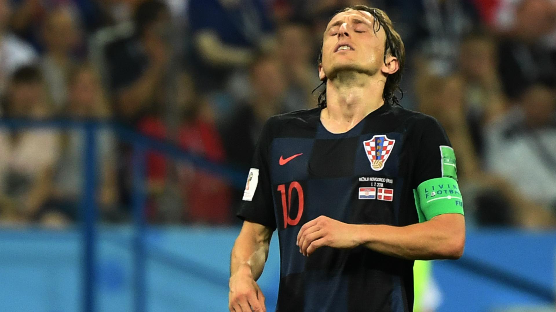 Luka Modric Croatia Denmark World Cup 01072018