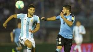 Federico Fazio Luis Suarez Uruguay Argentina