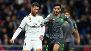 Sergio Ramos Mikel Merino Real Madrid Real Sociedad LaLiga 06012019
