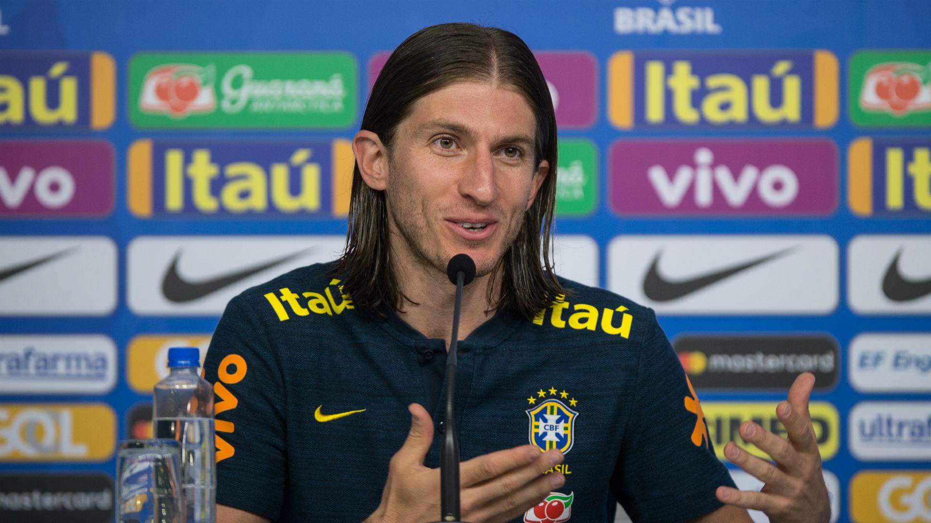 Filipe Luís Seleção Brasileira Granja Comary 25 05 2018