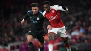 Kyle Walker & Danny Welbeck - Arsenal v Manchester City