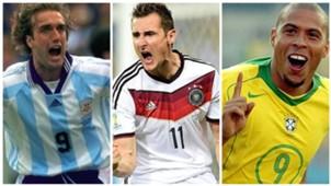 Ronaldo, Klose y los máximos goleadores en la historia de los Mundiales