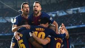 Barcelona celebrate Real Madrid