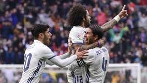 Marcelo Sergio Ramos Marco Asensio Real Madrid Valencia LaLiga 29042017