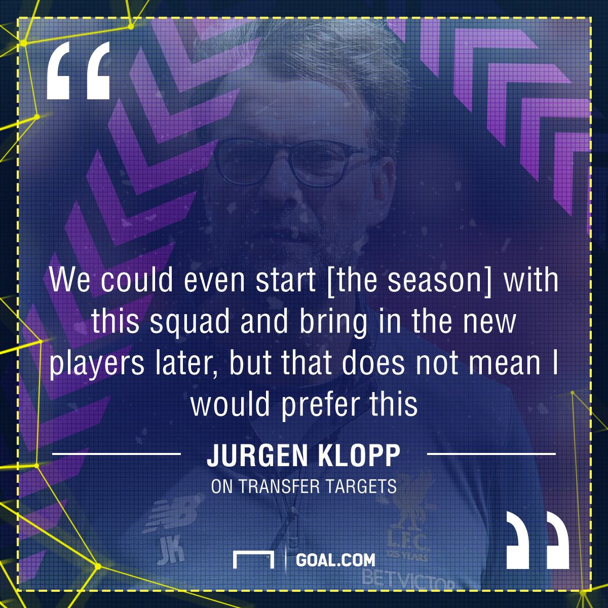 GFX Jurgen Klopp quote transfers